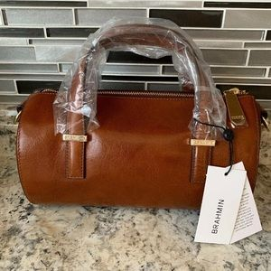 Brahmin Claire Whiskey Topsail Purse New With Tags